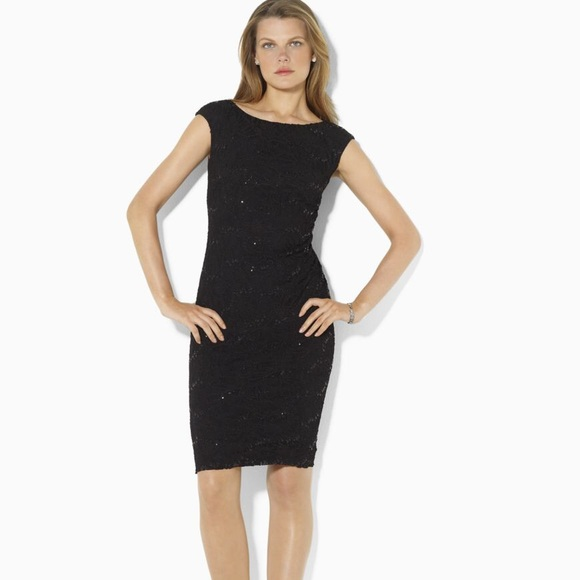 Lauren Ralph Lauren Dresses Sequin Stretch Lace Dress Poshmark
